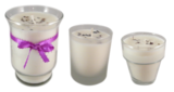 All natural single candles & wedding favor candles available in any assortment & style glass.