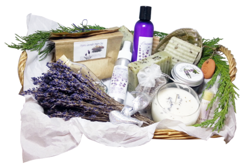 lavender gift baskets are perfect christmas gift ideas